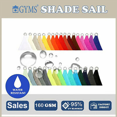 Special Water proof Grey Sand  Patio Garden Sun SHADE SAIL Shadecloth  10+Color