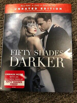 Fifty Shades Darker Blu-Ray, DVD, Digital HD Slipcover Unrated Version