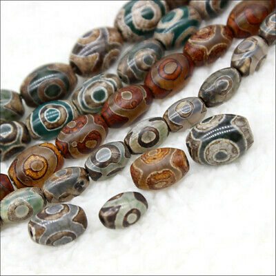 1pcs Agate Day Bead Bucket Beads Loose Bead 15 inches Healing Craft Hole Stone