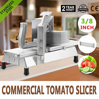 9.5mm Commercial Vegetable Fruit Slicer With Blade Pushing Block Onion Chopper