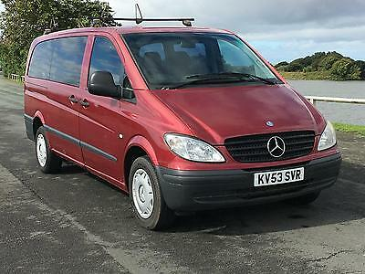 SPARES / REPAIRS / PROJECT 2004 MERCEDES VITO 111 CDI LONG 5 Seat Dualiner Combi