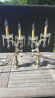 A pair of very rare Vintage French Maria Theresa table lamps(53)
