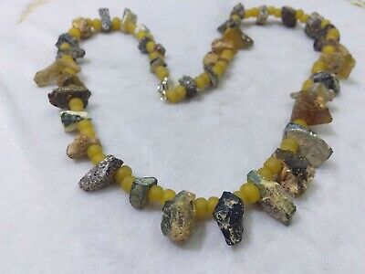 Roman Glass Blue Roman Glass Beads 2000+ Years Old Authentic Artifact RaRe Afg