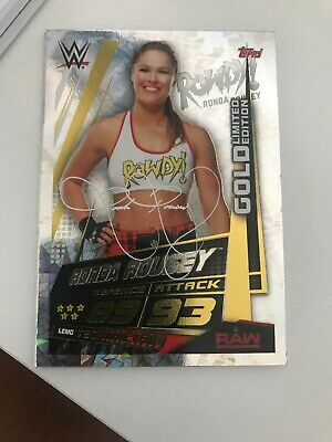 Topps WWE Slam Attax Universe Ronda Rousey Gold Limited Edition Card