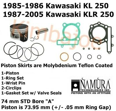 Front Right Hand Full Caliper Piston Kit Kawasaki KLR 250 D9 1992 0250 CC