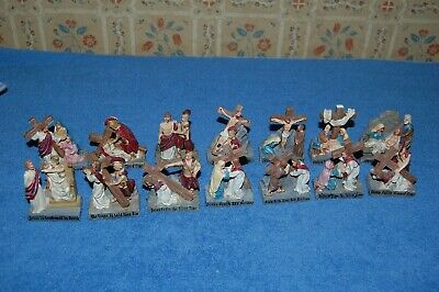 Stations of the Cross Figures Jesus Christian Religion Miniature Statues Easter
