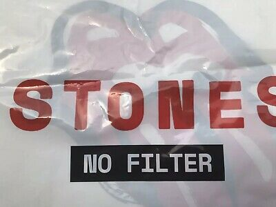 THE ROLLING STONES plastic bag 2019 No filter Tour Souvenir Made in the USA