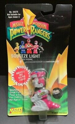 Vintage Janex Mighty Morphin Power Rangers Squeeze Light Ranger Dino New in Box