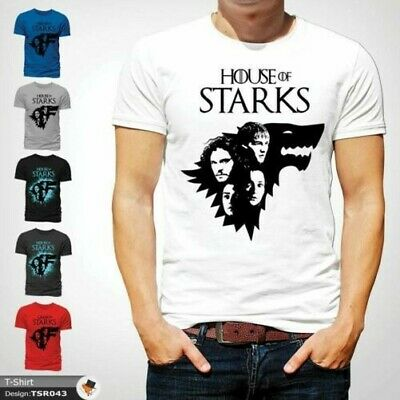 Game Of Thrones Tshirt Stark House Crest winter is coming Xmas Tshirt White