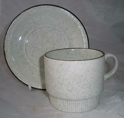 Poole Pottery Parkstone Pattern Large Cup and Saucer in the Compact Shape