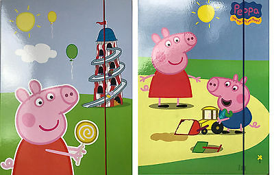 Peppa Pig Twin Pack of Large Document Holders with Elastic Closure