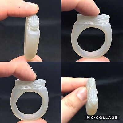 Excellent rare ancient Roman glass wonderful big giant size ring