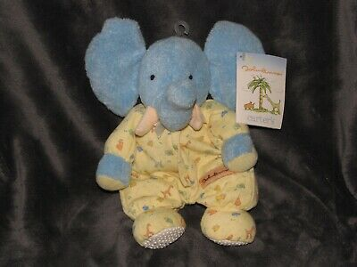 Vintage Carters John Lennon Stuffed Plush Elephant Rattle Baby Lovey Toy New