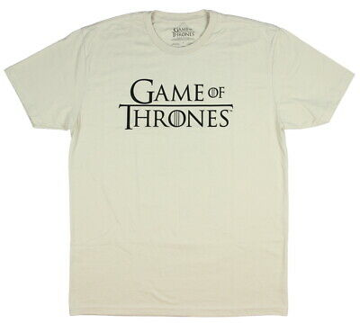Official Game of Thrones Men's Short Sleeve Logo T-Shirt (Large)