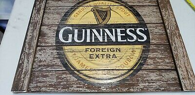 Guinness Wooden Beer Sign Guinness 18x24 Pub Bar Man Cave