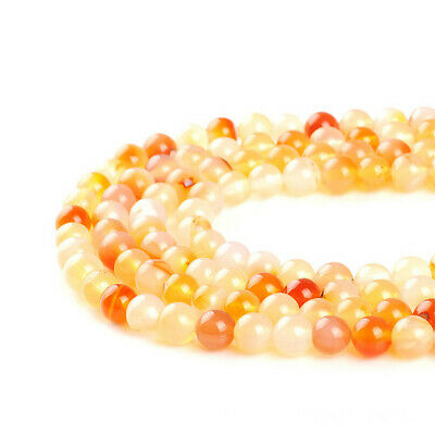Natural Pink Yellow Agate Loose Beads Making Jewelry 15 inches Stone Top Opaque