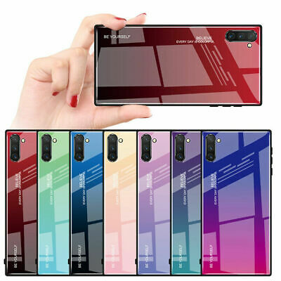 For Samsung Galaxy Note 10 Note 10+ Luxury Slim Hybrid Case Gradient Glass Cover