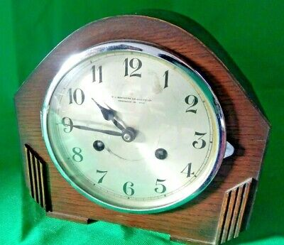 Northern goldsmith's (newcastle) . vintage mantle clock.