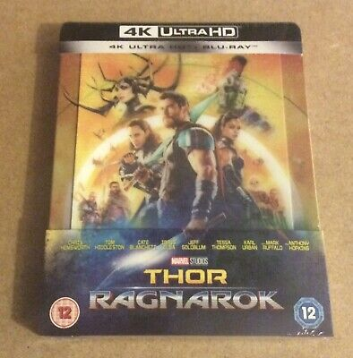 Thor : Ragnarok - Uk Exclusive 4K Uhd Lenticular Blu Ray Steelbook - New+Sealed