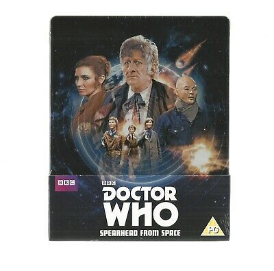 Dr Who : Spearhead From Space - Uk Exclusive Blu Ray Steelbook - New & Sealed