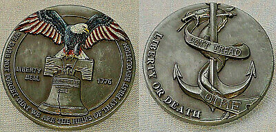 LIBERTY Bell Antique Silver Coin Eagle JUSTICE American Independance Medal Death