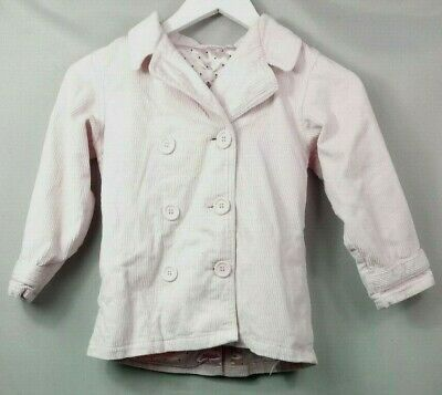 MOTHERCARE KIDS GIRLS Pink Cord Corduroy JACKET AGE 5-6 years Fitted Formal Coat