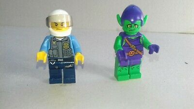 GENUINE LEGO minifigure GREEN GOBLIN  and POLICEMAN from Super Heroes 10687