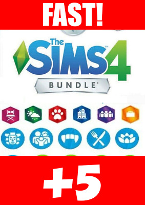 The Sims 4 + 5 DLCs + 2 FREE Games+ Warranty Listed