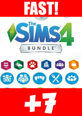 The Sims 4 + 7 DLCs + 3 FREE Games + Warranty Listed