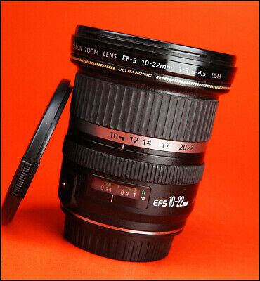 Canon EF-S 10-22mm F3.5-4.5 USM Zoom Lens for EOS SLRs With Front & Rear Caps