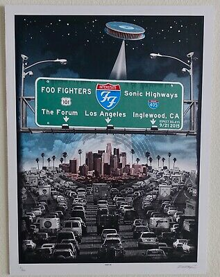 FOO FIGHTERS  --  The Forum 2015 - Rare Emek - Signed & Numbered original poster