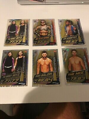 Topps WWE Slam Attax Universe Champion Cards -£1 Each Or 6 For £5! CHECK LISTING