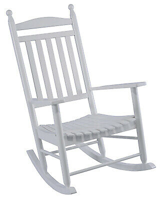 JACK POST CORP Knollwood Collection Classic  Porch Rocker, White Hardwood KN-22W