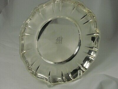 Wallace Sterling Silver 207 Plate Salver.  8 inch diameter. 286 grams.