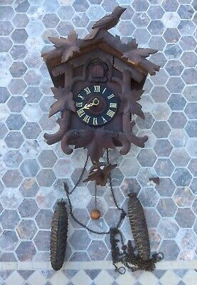 Antique Large ALBERT SCHILD INTERLAKEN Black Forest Cuckoo Clock,Swiss Movement