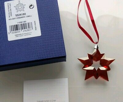 Swarovski SMALL CHRISTMAS RED HOLIDAY ORNAMNET NEW for 2019  MINT IN BOX 5524180