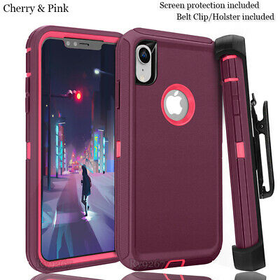 iphone XR Defender Case With Screen Protector Fits Otter box (multiple color)
