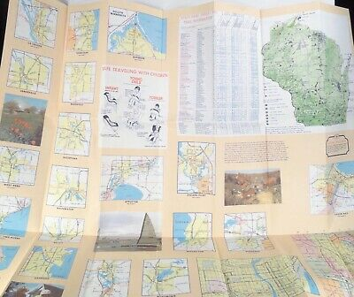 1985 WISCONSIN ROAD MAP official state highway map DEPARTMENT OF TRANSPORTATION