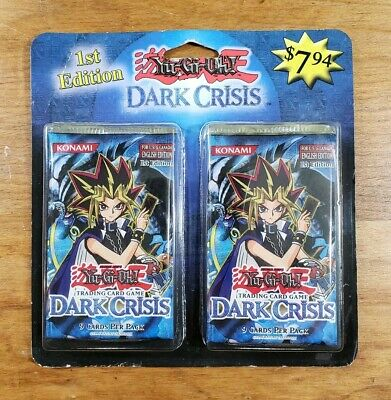 Yugioh Dark Crisis 1st Edition Sealed Blister with 2 Booster Packs