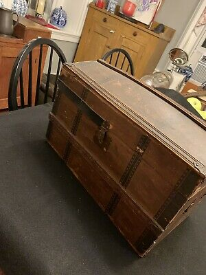 Antique Child's Dome Top Camelback Trunk