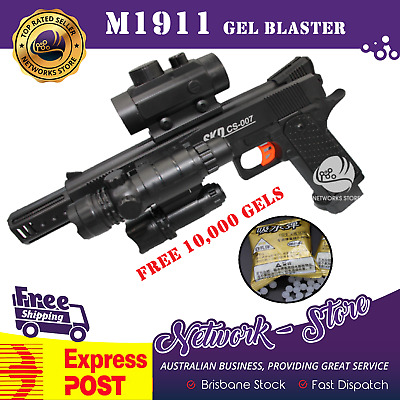 SKD M1911 Gel Ball Blaster Electric Hopper Fed Pistol FREE 10K Gels AUS STOCK!!!
