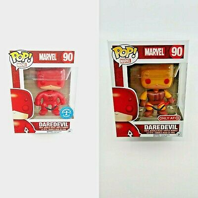 Funko Pop! Marvel Yellow Daredevil Target Exclusive Red Daredevil