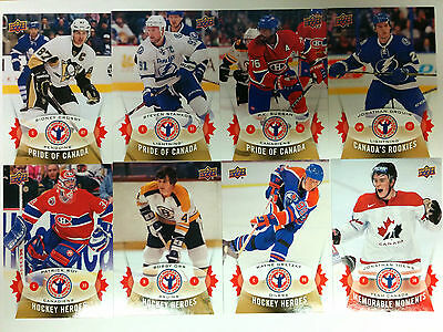 2015 Upper Deck UD National Hockey Card Day Canada Complete 17 Cards Set