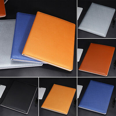A4 Executive Men Business Conference Folder Clipboard PU Leather Document File