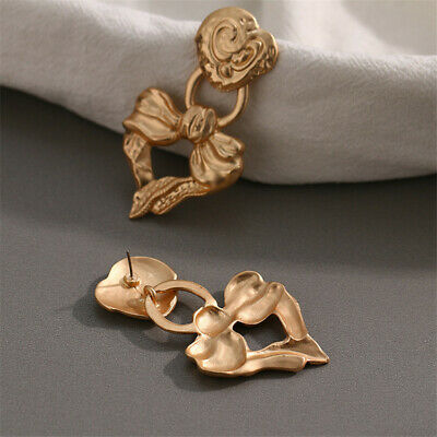 Fashion Baroque Bow Heart Shaped Earrings Wedding Gift Party Real Flawless
