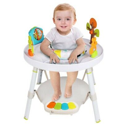 Baby Foldable Toddler Chair Feeding Highchair Height Adjustable Seat Table