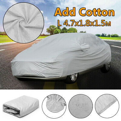 L Full 2 Layer Heavy Duty Car Cover Waterproof Breathable Sun Rain UV Protection