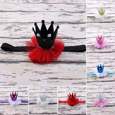 Hair Cute Baby Headband Crown Tulle Mini Lace Newborn Elastic Headwear Toddler