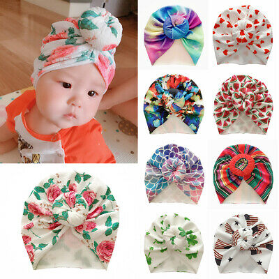 Toddler Kids Corn Knotted Turban Beanies Cap Baby Stretch Headband Headwrap Hat~