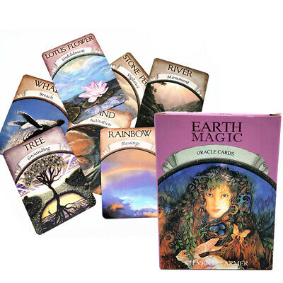 48-card Magic Oracle Cards Game Earth Magic Read Fate Tarot Deck Set Kit UK